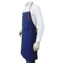 Masonic Past Master Apron in Real Leather Pocket
