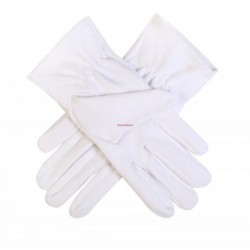 Freemason Masonic Gloves For Lady Mason Cotton Blue Embroidery Sq & C CPI