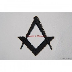 Freemason Masonic Leather Gloves in Black S & C Symbol