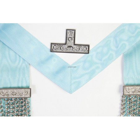 Freemasons Past Master  Masonic Apron in Real Leather Pocket