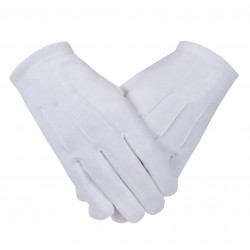 Freemasons Masonic  Plain Cotton Gloves