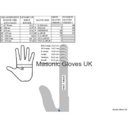 Freemason Masonic Cotton Gloves in White with Silver S & C Symbol