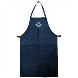 Real Leather Bib style Apron with Masonic Freemasonary Freemasons symbol SC &G in Sliver